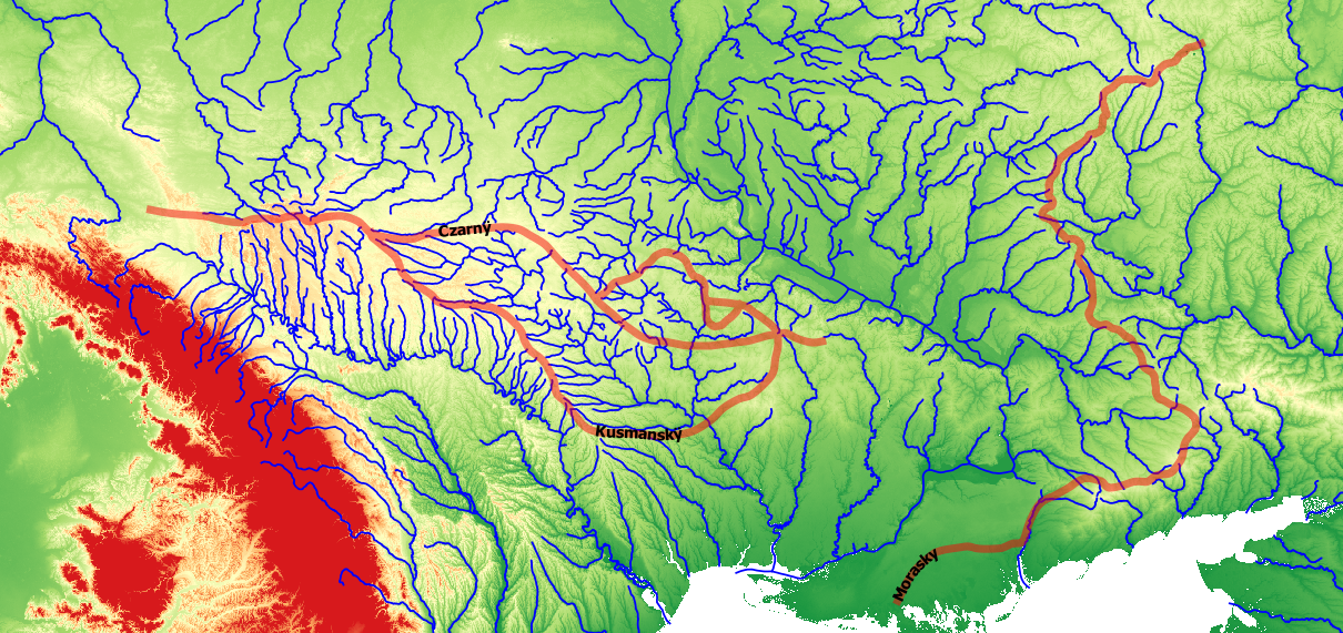 BSZLAK - Beauplan's 17th Century Szlak Routes Across the Pontic Steppe