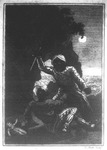 Frontispiece from <em>Fatal Jealousy; or, Blood Will Have Blood! Containing the History of Count Almagro and Duke Alphonso; Their Combat in the Dreadful Tournament and the Death of the Beautiful Bellarmine, Through the Artifice of Sophronia, Her Rival</em>