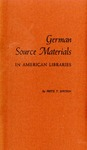 German Source Materials in American Libraries