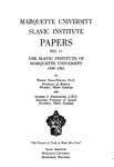 Marquette University Slavic Institute Papers NO. 11
