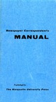 Newspaper Correspondent's Manual by Donald Ross