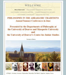 Philosophy in the Abrahamic Traditions, June 24-25, 2010 by Marquette University Department of Philosophy