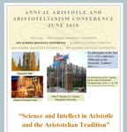 Science and Intellect in Aristotle and the Aristotelian Tradition, Fifth Annual Marquette Summer Seminar in Ancient and Medieval Philosophy, June 28-30, 2010
