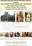 Philosophy in the Abrahamic Traditions, June 25-26, 2012
