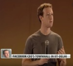 Facebook's Mark Zuckerberg's townhall in Delhi