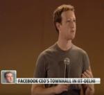 Facebook's Mark Zuckerberg's townhall in Delhi by Mark Zuckerberg