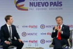 Mark Zuckerberg with Juan Manuel Santos Internet.org in Columbia