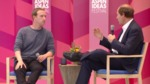 Mark Zuckerberg and Cass Sunstein at Aspen Ideas Festival
