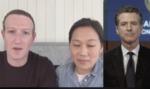 Zuckerberg Facebook video live with Governor Newsom and Priscilla Chan by Mark Zuckerberg, Priscilla Chan, and Gavin Newsom