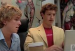 Footage of Zuckerberg and early Facebook employees from 2005